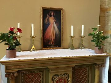 The altar in the cathedral church dedicated to Divine Mercy