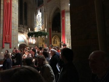 Volle kathedraal voor Nine Lessons and Carols
